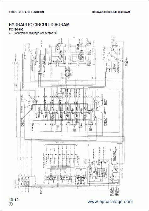 komatsu excavator pc130 6k  pc150lgp 6k workshop manual Komatsu Wiring- Diagram komatsu excavator alternator wiring diagram