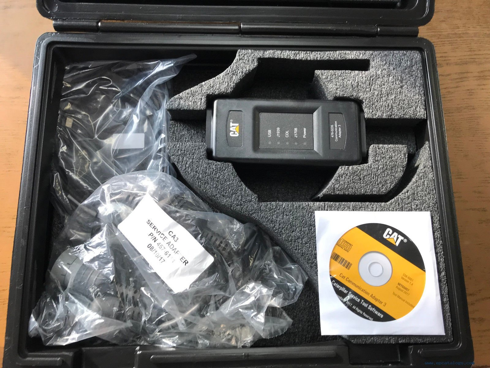 Caterpillar Communication Adapter III Kit PN 538-5051 (Replaces 466-6258) +  CAT ET 2019A