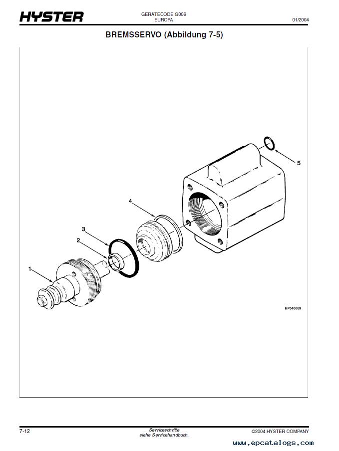 Hyster G006 H6 00 7 00xl Forklift Pdf Parts Manual Gr Only