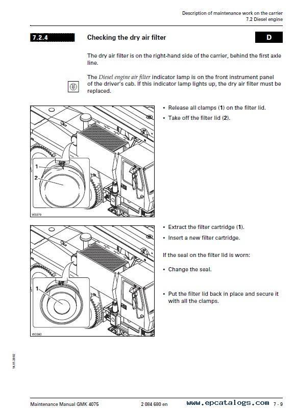 Grove Truck Crane GMK 4075 Maintenance Manual PDF