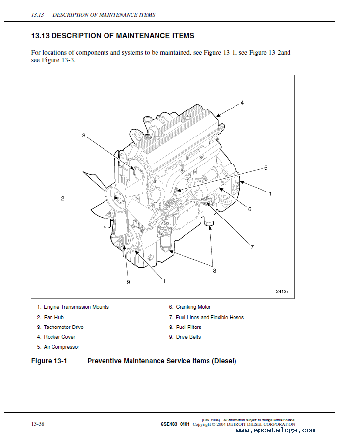 detroit diesel marine engine manuals
