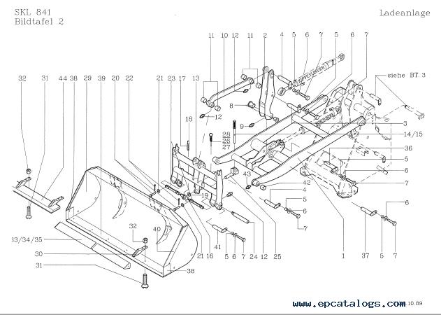 Terex Skl 841  841 Serie B Wheel Loader Download Pdf Parts