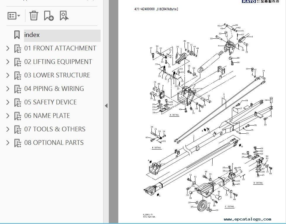 Parts Of A Rough Terrain Crane : Kato sl kr h l rough terrain crane part catalog pdf