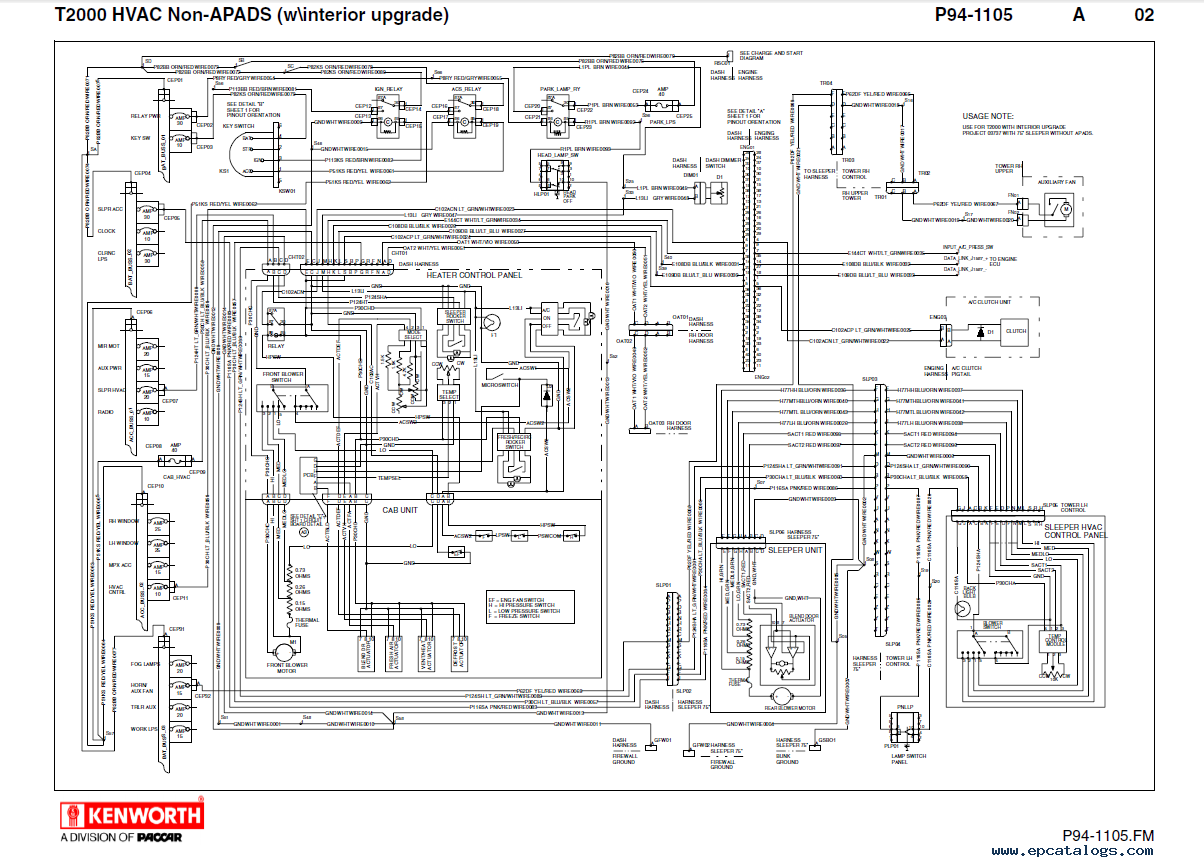 Kenworth T600 Ac Wiring Diagram Auto Electrical Rotax 447 Truck Schematics