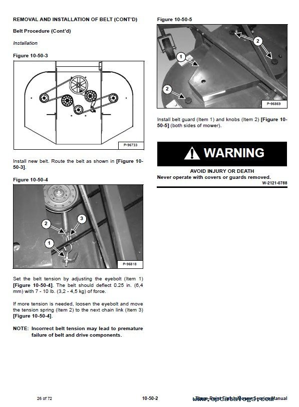 Bobcat 3FM60, 3FM72, 3FM84 Three-Point Finish Mower Service Manual PDF