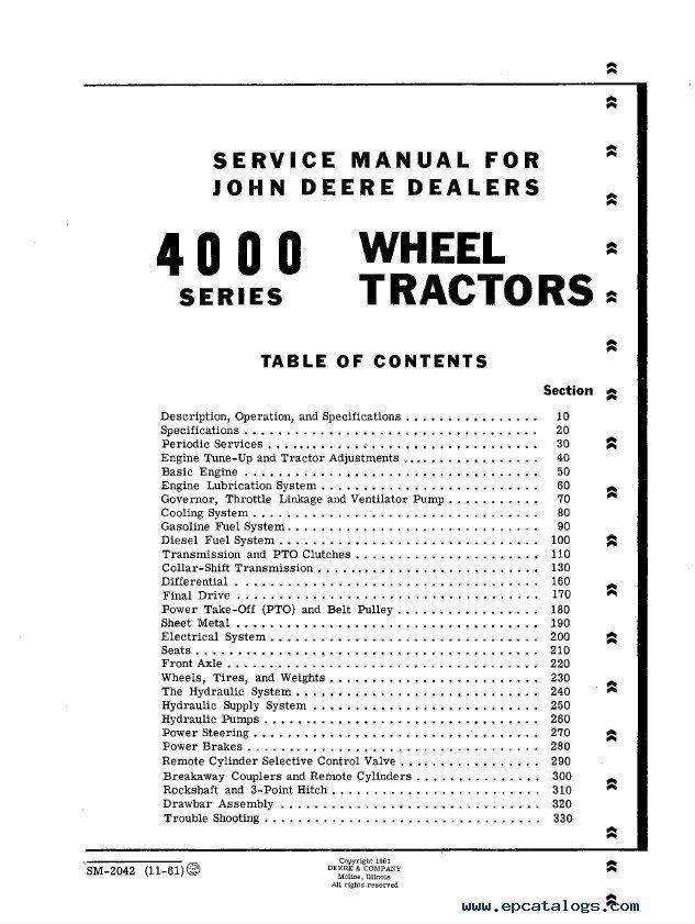 john deere 4300 service manual pdf