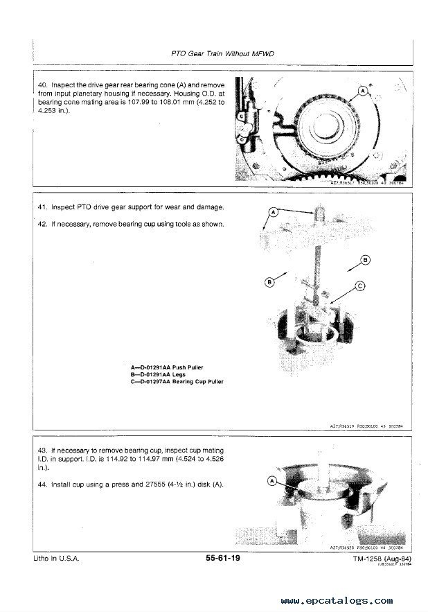 John Deere 4650  U0026 4850 Tractors Repair Tm1354 Pdf Manual