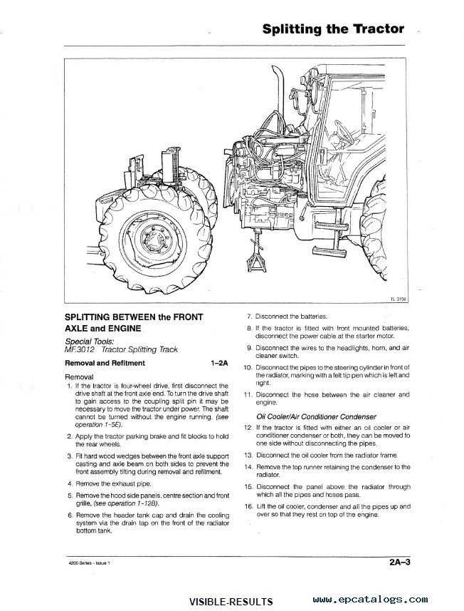 massey ferguson 4200 series tractors service manual pdf repair manual heavy technics repair