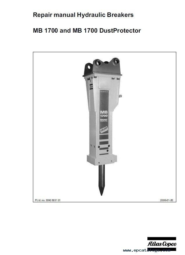Atlas Copco Mb1700 Parts  U0026 Repair Manuals Pdf