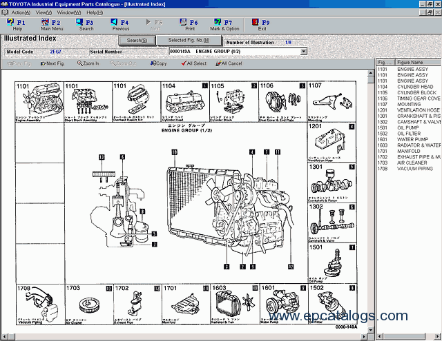 Toyota industrial equipment spare parts catalog download for Century ac motor serial number lookup