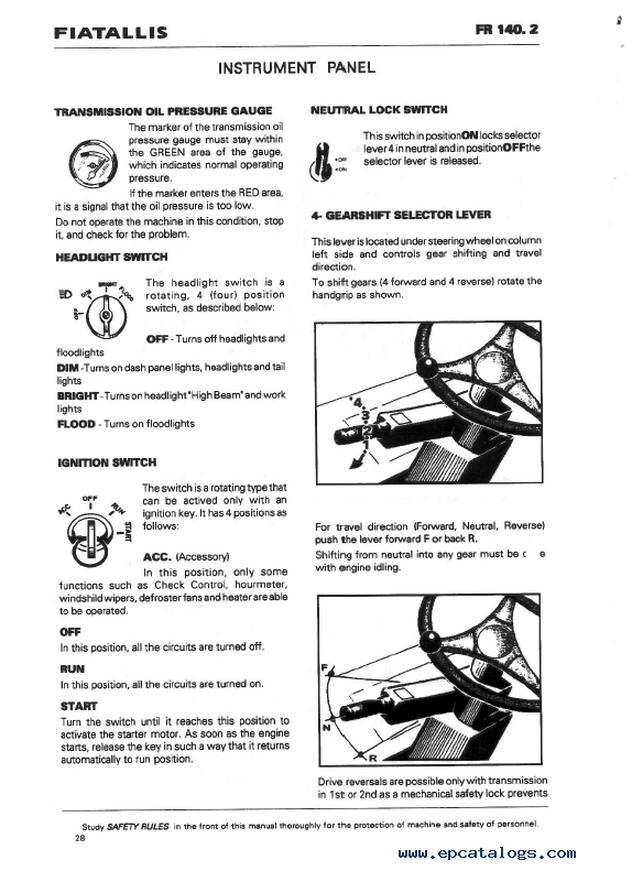 Fiatallis Fr Fr Loader Workshop Repair Manual Software on Jcb Parts Catalog Online