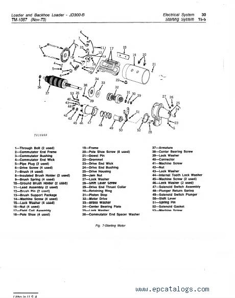 John Deere JD300-B Loader & Backhoe Loader TM1087 PDF