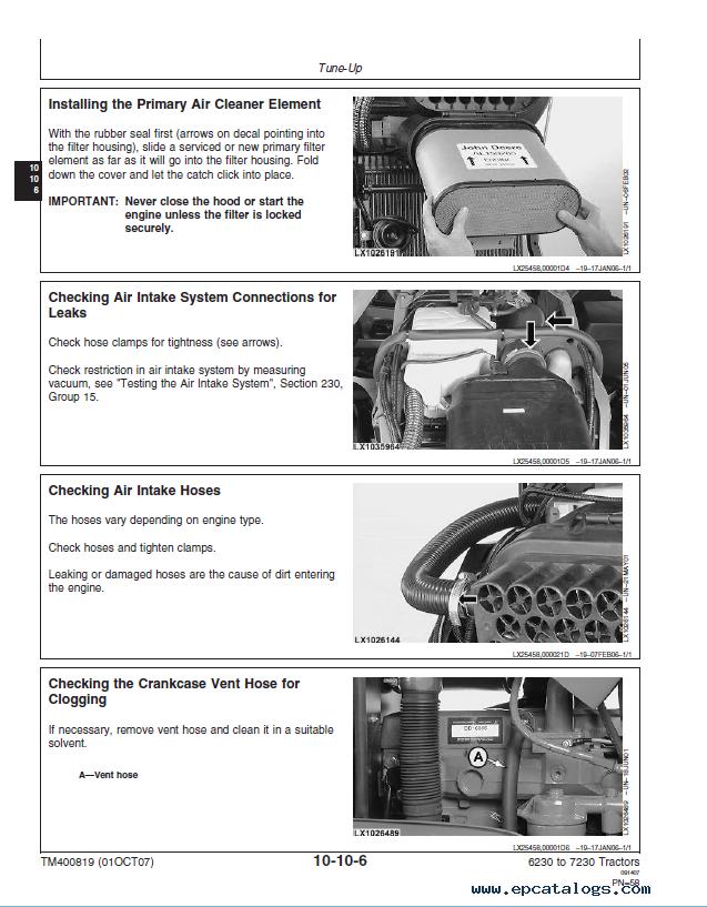 John Deere Tractors 6230