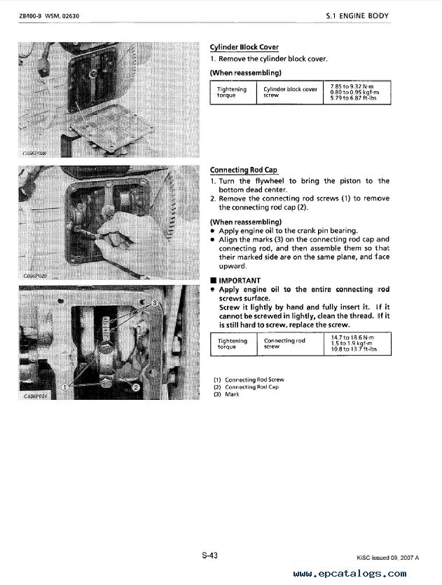 Kubota Zb400 B Diesel Engine Workshop Manual Pdf