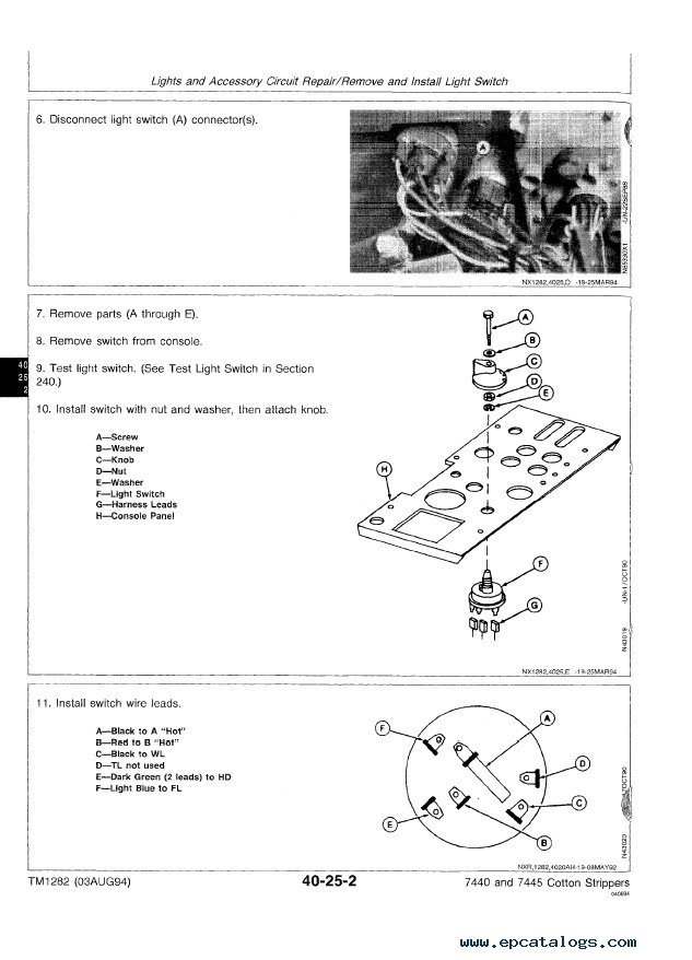 john deere 7440 7445 cotton strippers tm1282 technical manual pdf john deere 7440 & 7445 cotton strippers tm1282 technical manual on 7440 cotton stripper wiring diagram