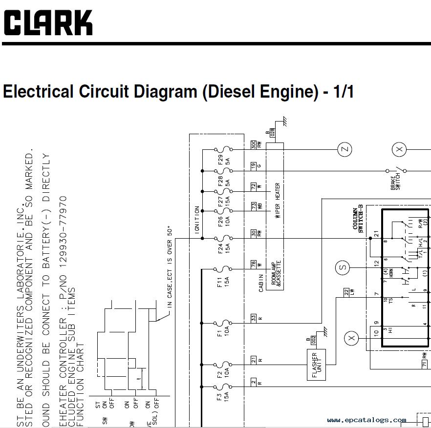 Clark Forklift Gts20  25  30  33 D  L Service Manual Pdf