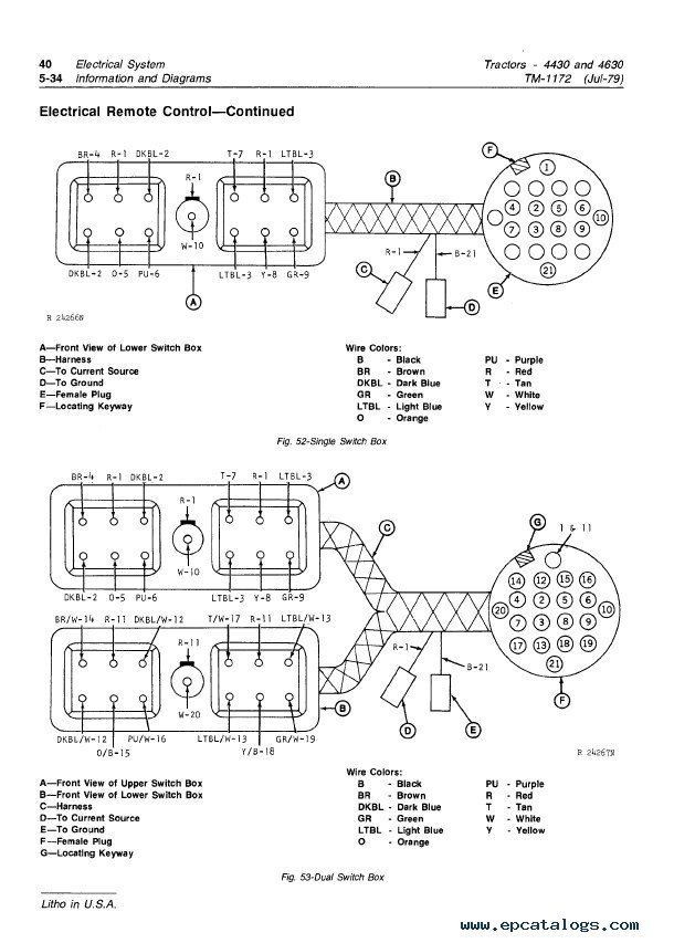 john deere 4430 4630 tractors tm1172 technical manual pdf john deere 4430 wiring diagram john deere wiring diagrams for john deere 4430 wiring diagram at bakdesigns.co