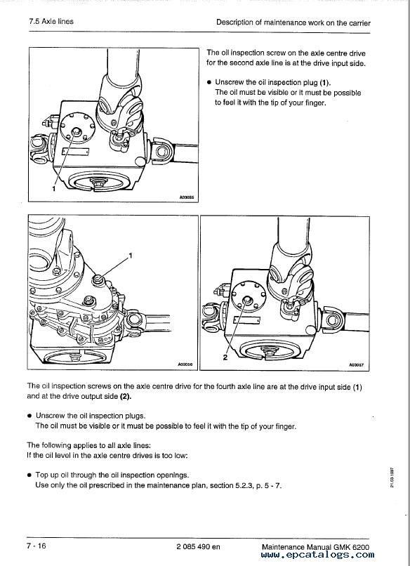 Download Grove Truck Crane GMK 6200 Maintenance PDF