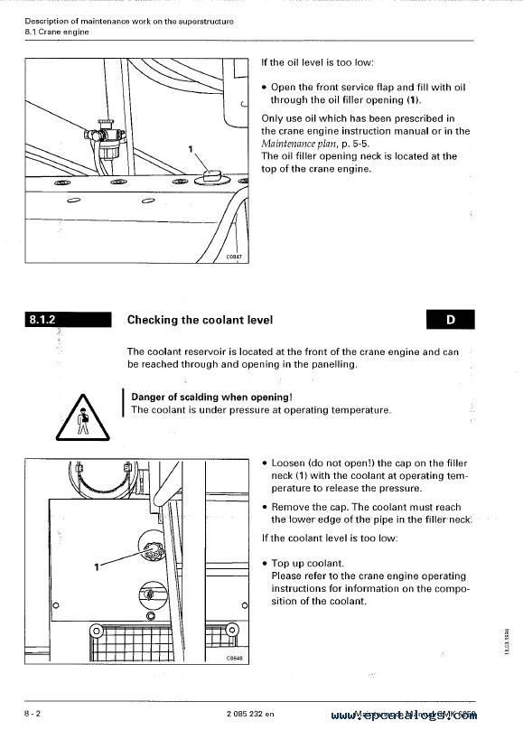 Download Grove Truck Crane GMK 6250 Maintenance PDF