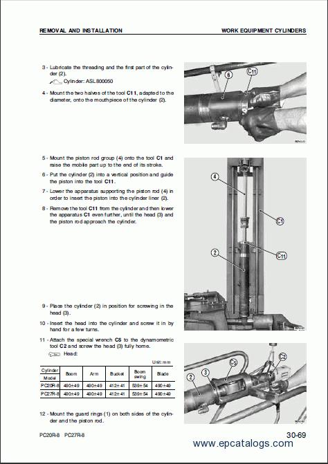 Komatsu Hydraulic Excavator on Komatsu Heavy Equipment Repair Manuals