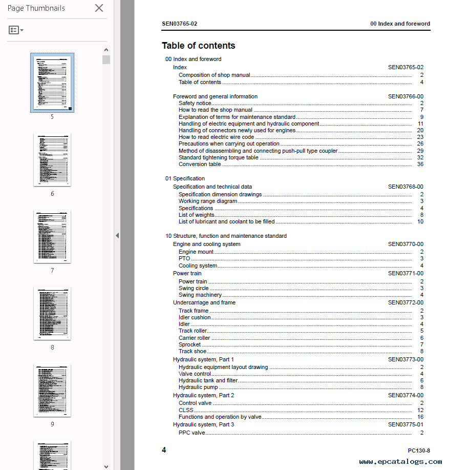 Komatsu fg 28 Repair manual