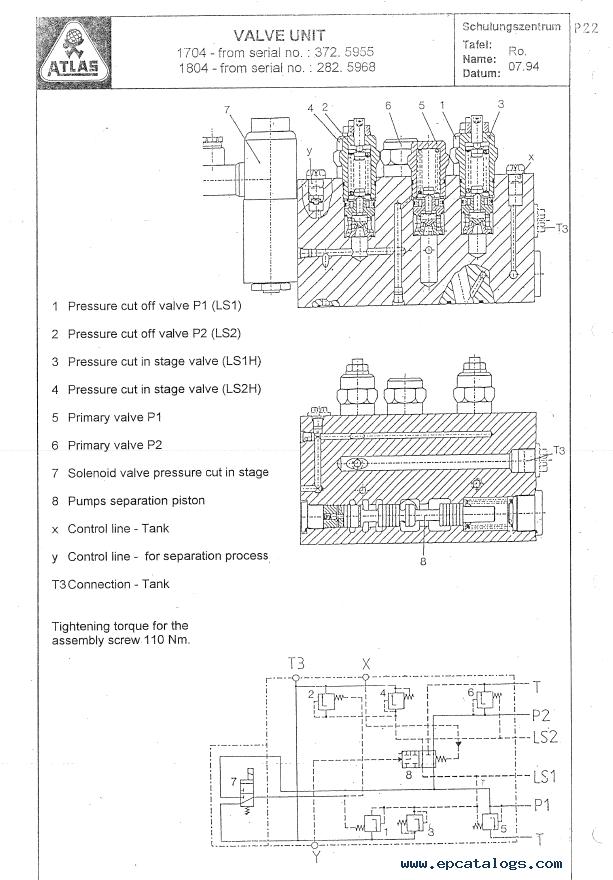 Terex Atlas 1704 / 1804 Excavator Workshop Manual PDF