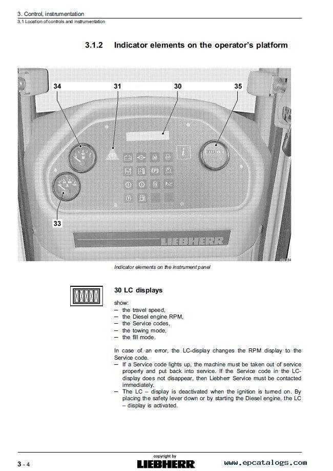 Liebherr Pr 734 Litronic Crawler Dozer Operating Manual Pdf