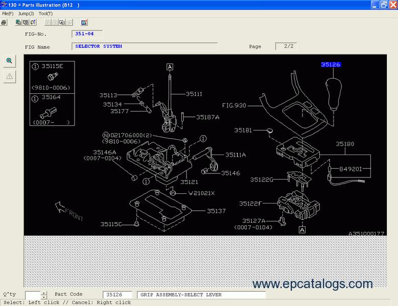 Subaru Epc Europe Parts Catalog Spare Parts Manuals Software on 1996 Subaru B9 Tribeca