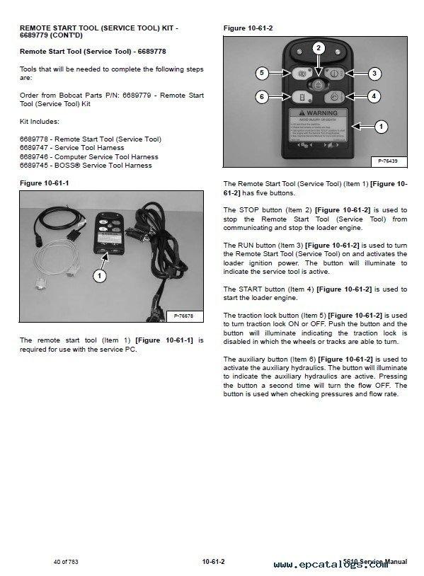 Bobcat Toolcat 5610 Utility Work Machine Service Manual Pdf