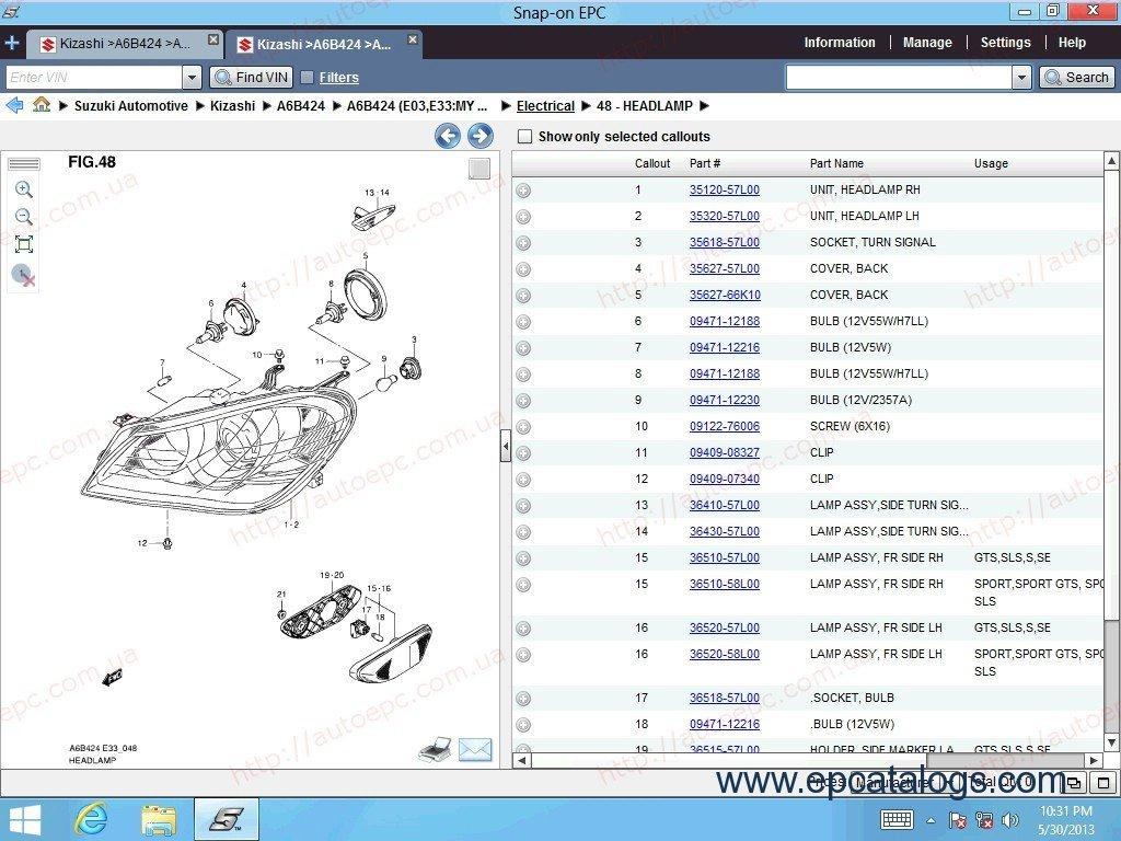 Suzuki Sierra Parts Catalogue