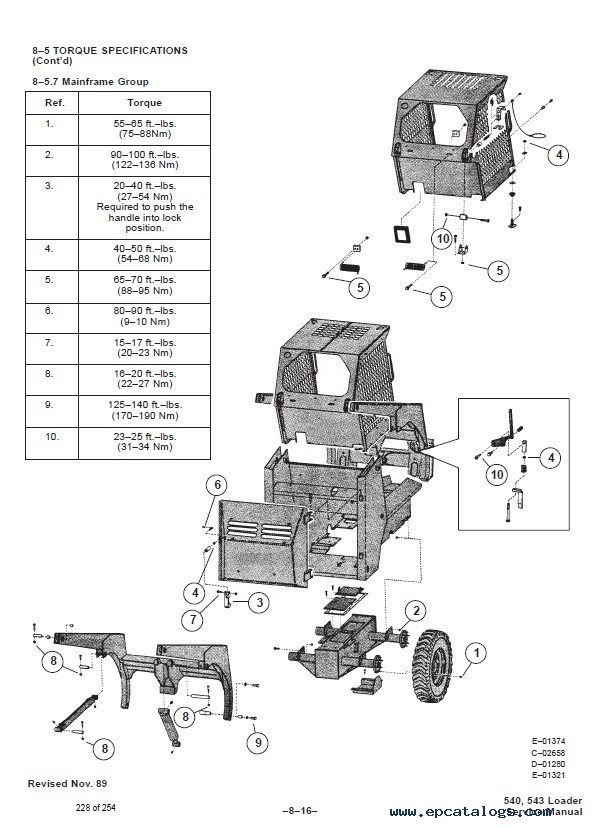bobcat 540  543 loaders service manual pdf