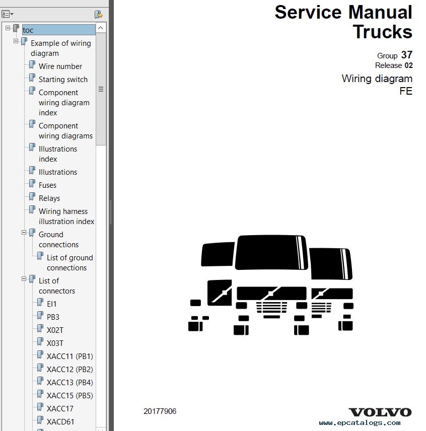 volvo trucks fe wiring diagram service manuals pdf rh epcatalogs com 1992 Volvo 960 Radio Wire Diagram Volvo 240 Fuse Diagram