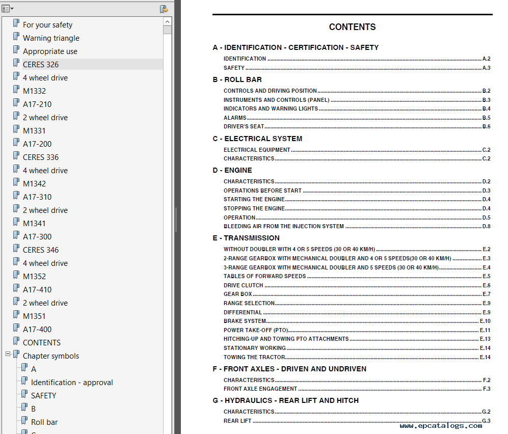 ... Array - claas renault ceres 326 336 346 tractors pdf manual rh  epcatalogs com repair ...