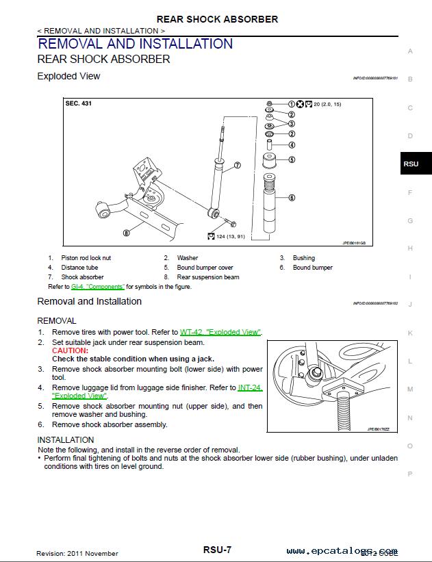 Nissan Cube Model Z12 Series 2012 Service Manual PDF