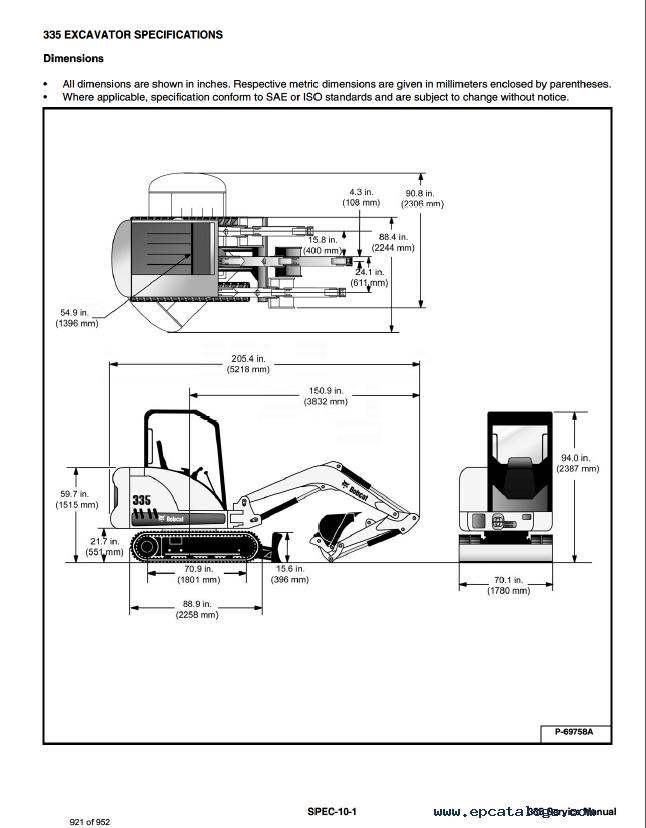 Bobcat 335 service manual