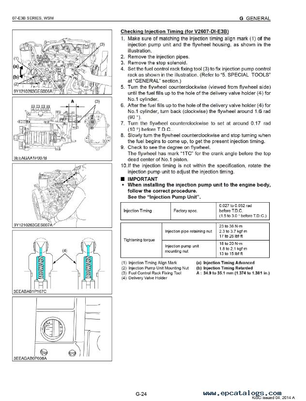 Kubota 07 E3B Series Diesel Engine Workshop Manual PDF
