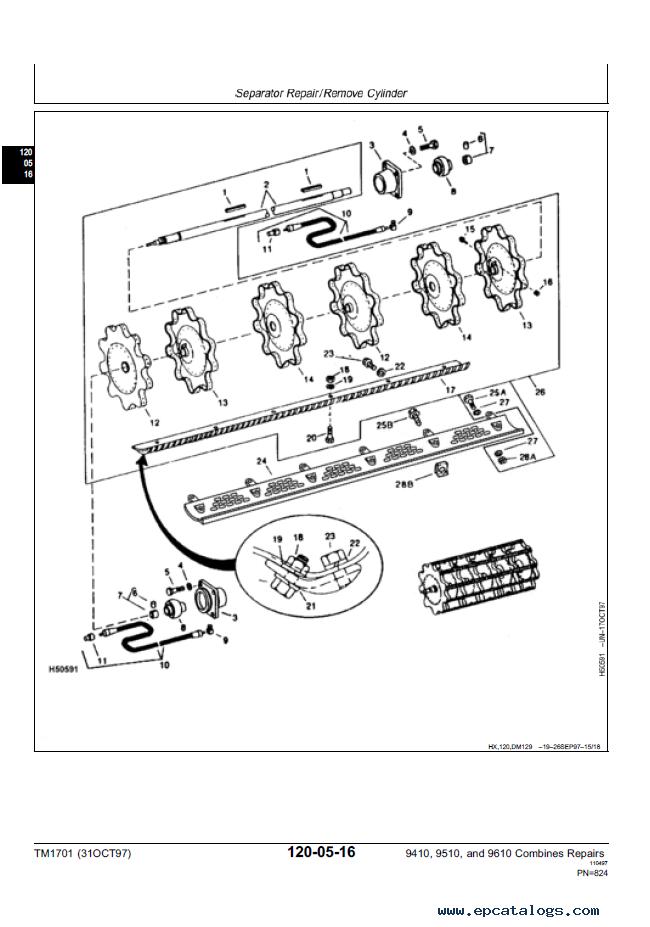 john deere 9410 9510 9610 combines repairs diagnostics rh epcatalogs com John Deere Combines 9610 Header John Deere Combines 9610 Header