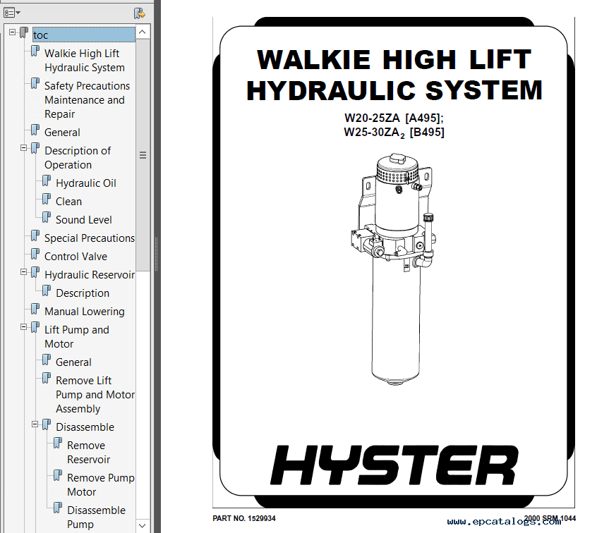 hyster class 3 a495 w20 25za electric motor hand truck pdf. Black Bedroom Furniture Sets. Home Design Ideas