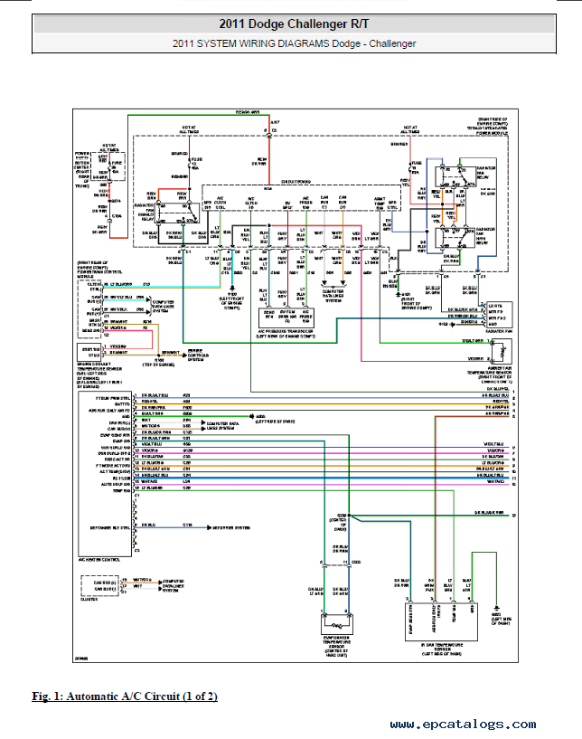 Dodge Challenger Wiring Schematic - Wiring Data