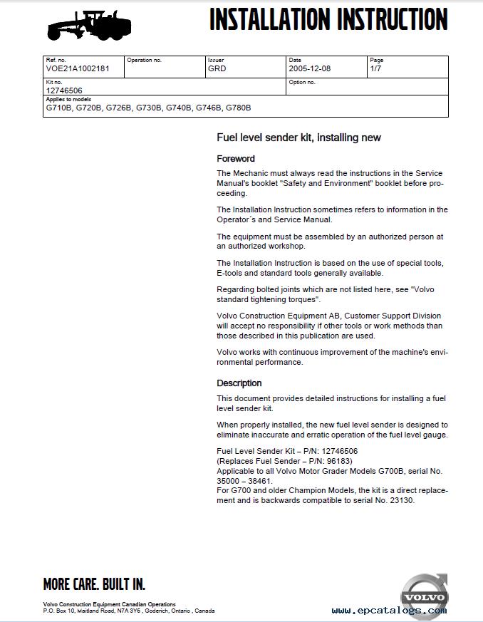 Volvo PROSIS Construction Equipment Parts Catalog & Repair Manual 2019