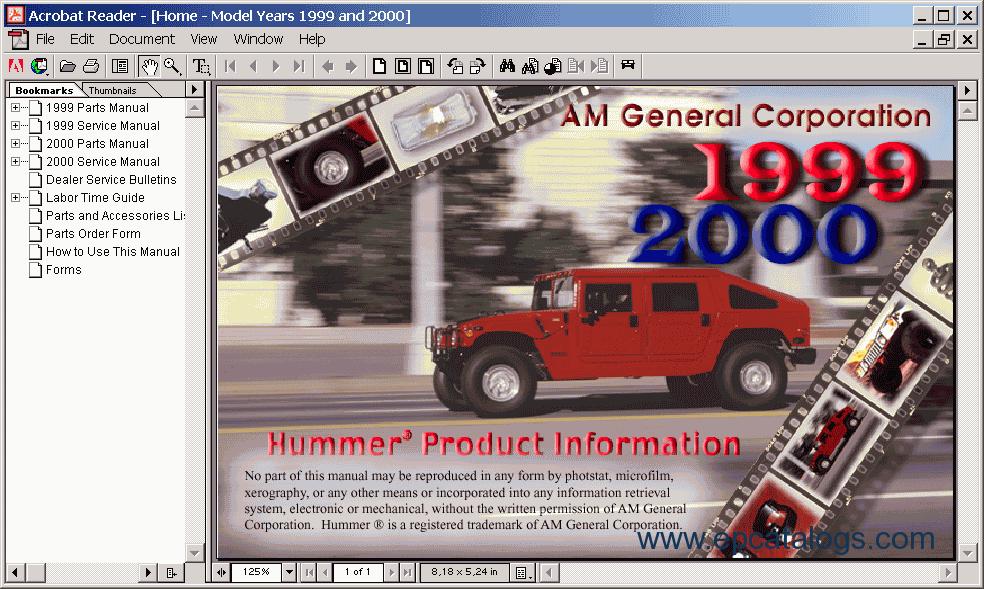 2000 hummer h1 wiring diagram hummer h1 1999 2000 electronic spare parts catalogue  hummer h1 1999 2000 electronic spare