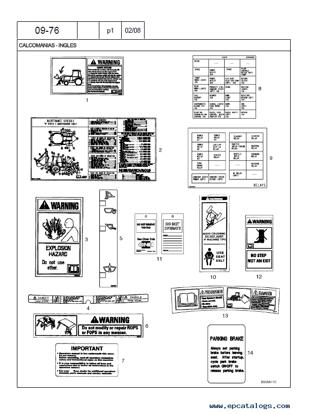 Case M Series Loader Backhoe Parts Catalog Pdf Parts Manual