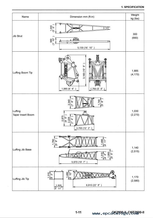 Kobelco CK CKE2500 II Crawler Crane Shop Manual PDF