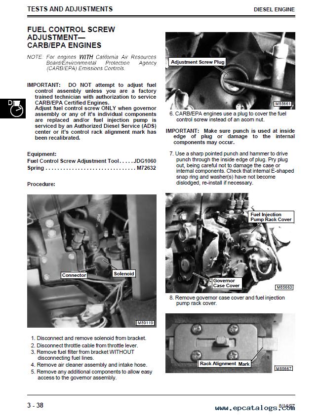 john deere 2653a diesel professional utility mower tm1554 rh epcatalogs com John Deere Dealership John Deere 2653A Parts Manual