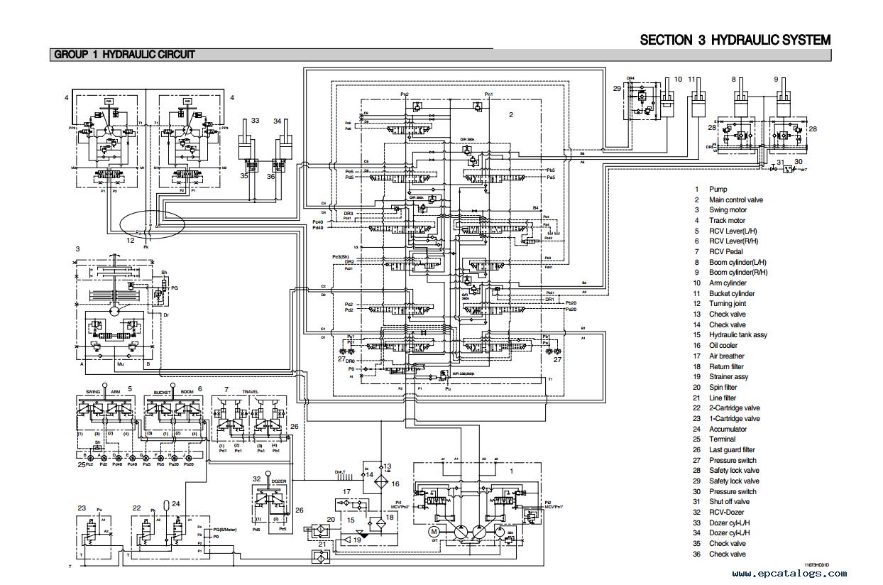 repair manual Hyundai R110-7 Crawler Excavator Service Manual - 3