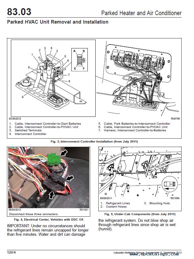 cascadia trucks ca125dc, ca125slp workshop manual pdf freightliner cascadia cat engine diagram  epcatalogs