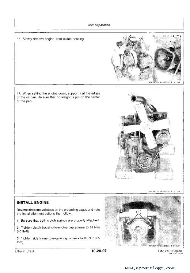 John Deere 650  U0026 750 Tractors Technical Manual Pdf