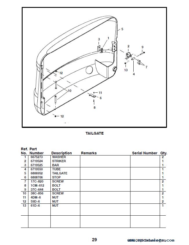 spare parts catalog bobcat 325, 328 d-series excavators parts manual  preliminary pdf -