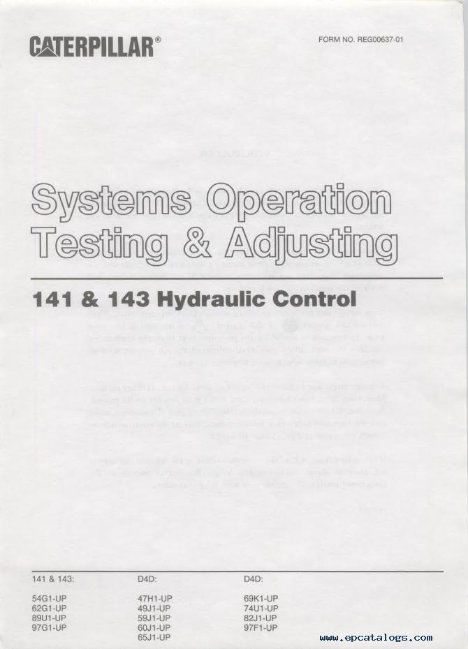 caterpillar D4 Track-Type Tractor PDF Manuals