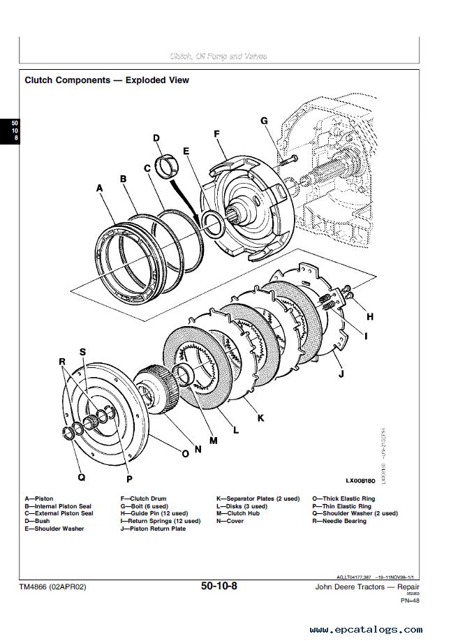 John Deere Tractors John Deere Repair Technical Manual Tm on 4 Cylinder F 1 Engines